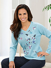 Adrian Delafield® Hand Embroidered Sweater