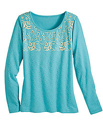 Jacquard Knit Top