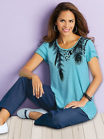 Adrian Delafield® Fun & Flutter Knit Top