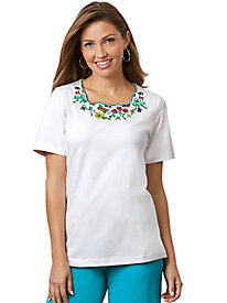 Embroidered Cut-Out Top 147044