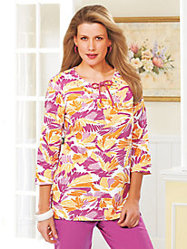 Boco Bay� Beaded Print Tunic
