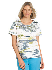 Adrian Delafield� Misty Morning Knit Top