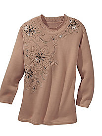 Adrian Delafield� Jazzy Blooms Sweater