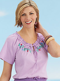 South-of-the-Border Embroidered Top
