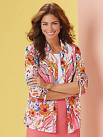 Brushstroke Blooms Twin Set