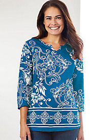 Paisley Punch Top