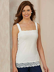 Lace-Trimmed Stretch Tank