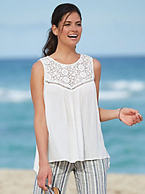Crochet Lace Gauze Top