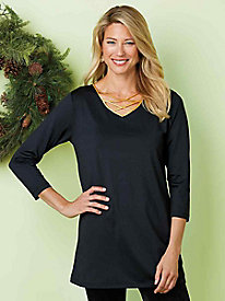 Criss-Cross Neckline Tunic