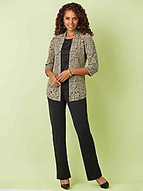 Jacquard Knit 3-Pc. Set