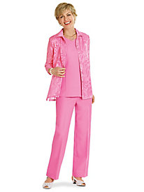 Salon Studio� 3-Piece Pant Set