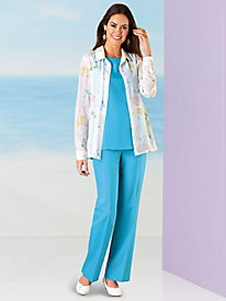 Calypso Coolers Tropical 3-Pc. Pant Set