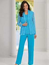 Salon Studio Lace Dream 2-Pc. Pant Set