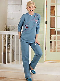 Embroidered 2-Pc. Fleece Set