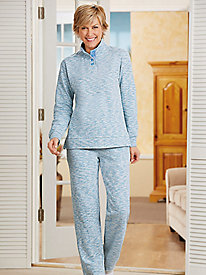 Heathered Fleece 2-Pc. Pant Set