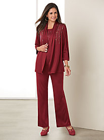 Salon Studio All that Jazz 3-PC Pant set