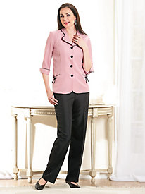 Bowtied 2-Pc. Pant Set