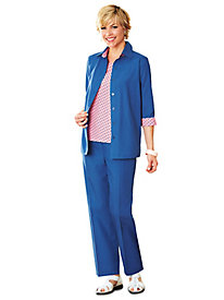 Salon Studio Polka Dot 3-Pc. Pant Set