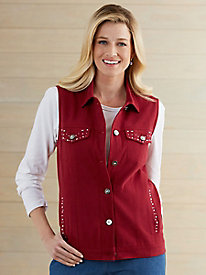 Tudor Court� Shine Time Jean Vest