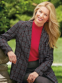 Tudor Court� Fully-Lined Plaid Blazer