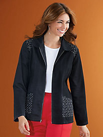 Star-Studded Jean Jacket