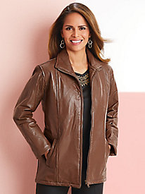 Tudor Court™ Zip-Front Leather Jacket