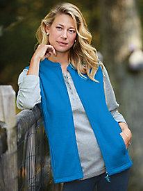 Feather Fleece Zip Vest
