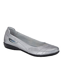 Dr. Scholl's� Leather Ballerina Flats
