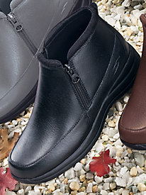 Dr. Scholl's� Zip-Zip Leather Booties