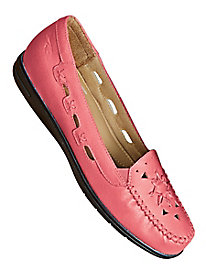 Dr. Scholl's® Salmon Leather Loafers
