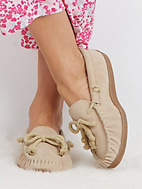 Moonbeams� Suede Slippers