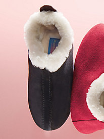 MoonBeams� Suede Fireside Slippers