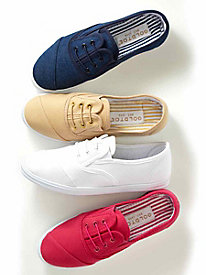Goldtoe® No-Tie Canvas Sneakers