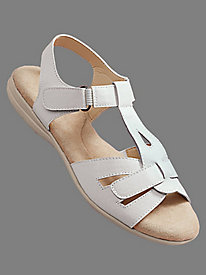 Pure Comfort� By Beacon� Leather T-Strap Sandals
