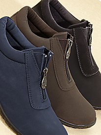Rain Dates® Center-Zip Suede Booties