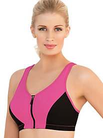 Glamorise; High Impact Zipper Sport Bra 110430