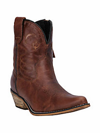 Dingo Women's Adobe Rose Krackle Leather Cowboy Boot