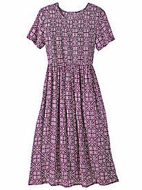 Smocked Challis Dress