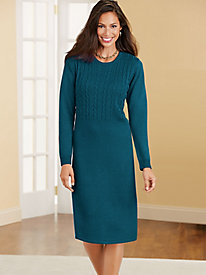 Sara Morgan™ Cable-Knit Sweater Dress