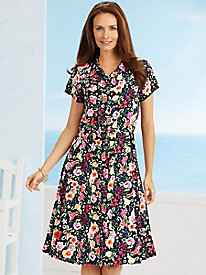 American Sweetheart� Midnight Garden Shirtdress