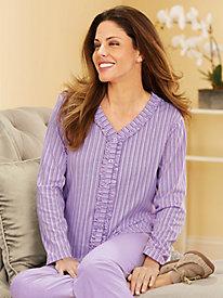 MoonBeams� Stripe 'N Solid 2-Pc. Pajamas