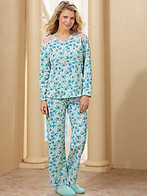 Moonbeams� Touch of Lace 2-Pc. Pajama Set