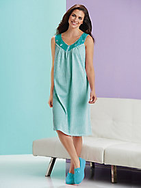Ticking Striped Nightgown