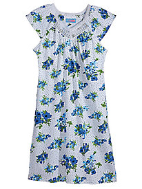 Flowers and Dots Nightgown