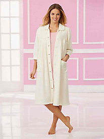 Long Fleece Bed Jacket