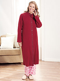 Feather Fleece� Snap-Front Robe