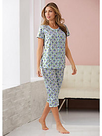 Floral Delight 2-Pc. Capri Pajamas