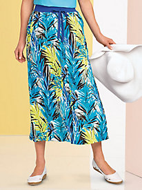 BocaBay� Crinkle-Cloth Skirt