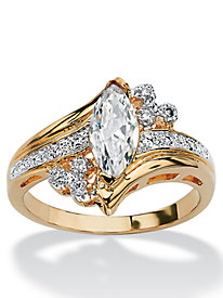 Marquise-Cut Cubic Zirconia Engagement Anniversary Ring