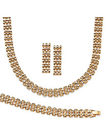 Panther Link 3-Piece Set Gold Tone